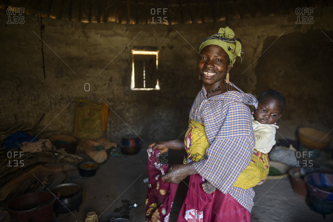 February 27,  2016: Village life in Guinea