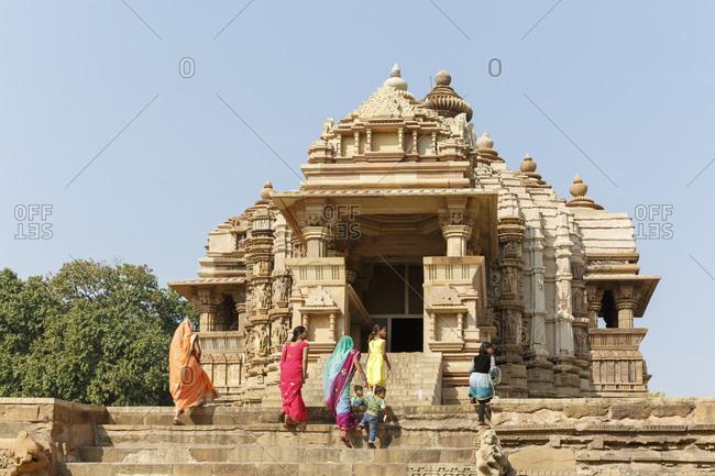February 19,  2016: Chitragupta Temple, temple district of Khajuraho, Khajuraho, Madhya Pradesh, India
