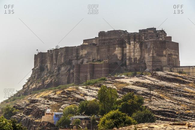 February 12,  2016: Fort Mehrangarh, Jodhpur, Rajasthan, India