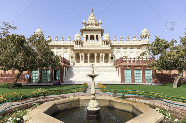 February 12,  2016: Jaswant Thada Cenotaph, Jodhpur, Rajasthan, India