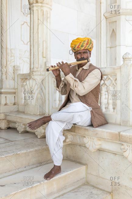 February 12,  2016: Portrait, Jaswant Thada Cenotaph, Jodhpur, Rajasthan, India