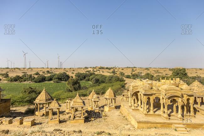 Bada Bagh Cenotaphs, Royal Chhatris, Jaisalmer, Rajasthan, India