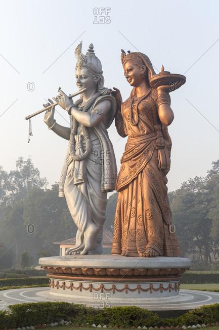 Statues of the god Radha Krishna, Delhi, India