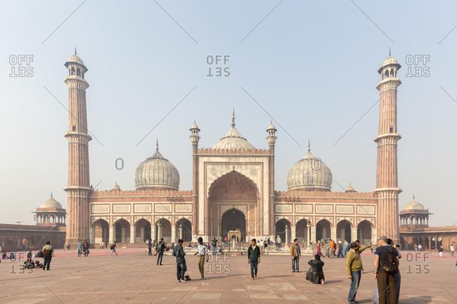 February 5,  2016: The Jama Masjid, worlds largest mosque, Delhi, India