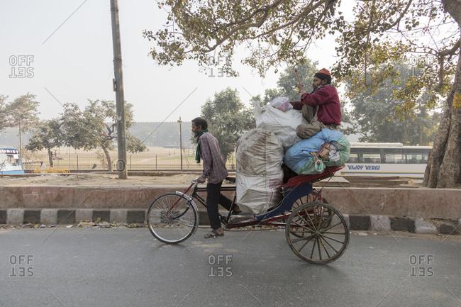February 5,  2016: Market and bazaar district of Chandni Chowk in Old Delhi, Delhi, India