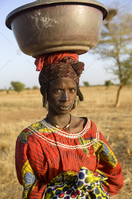 December 19,  2015: Fulani nomads of the Bel'ah group of the Sahel, Burkina Faso