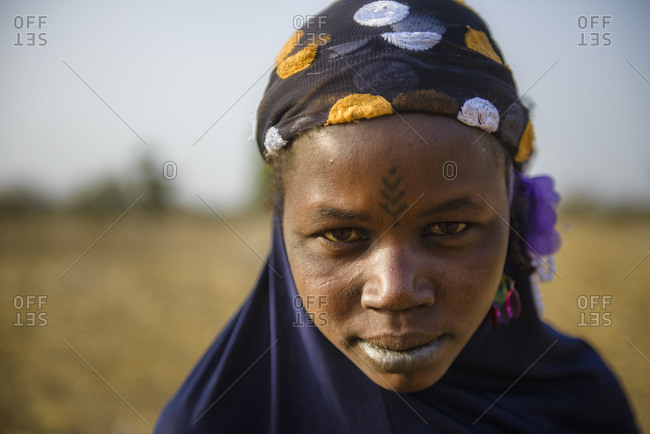 December 12,  2015: Rural life in a Fulani village of the Sahel in northeastern Burkina Faso