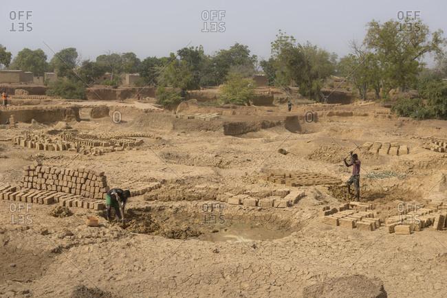 December 12,  2015: Brick quarry, Burkina Faso