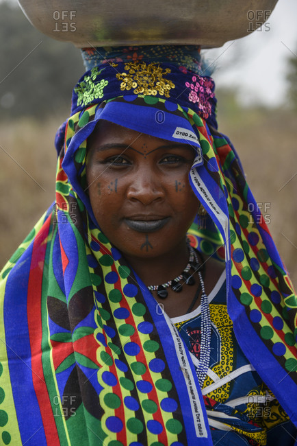 December 5,  2015: Fulani tribe woman of northern Benin, Africa