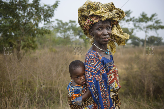 December 5,  2015: Indigenous woman of northern Benin, Africa