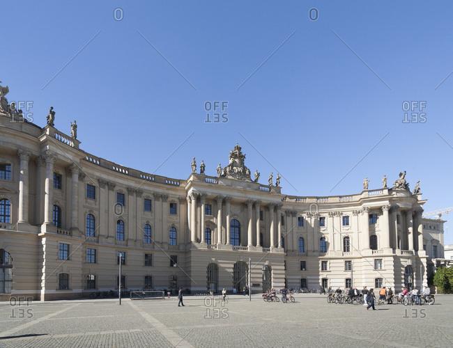 September 28,  2015: Faculty of Law, Humboldt University, Alte Bibliothek, Bebelplatz, Mitte, Berlin, Germany