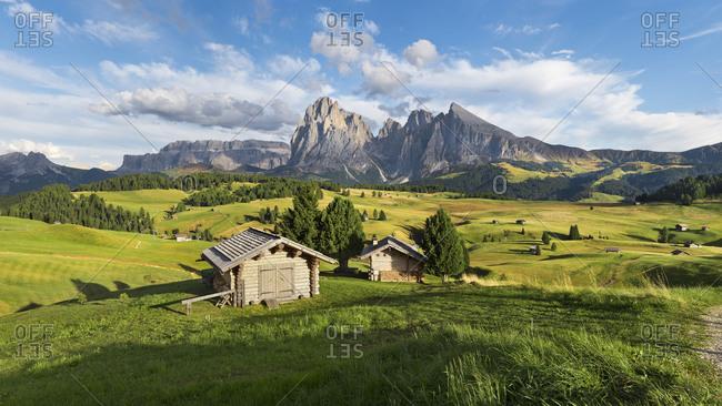 Alpe di Siusi, Alpe di Siusi, Alps, Dolomites, South Tyrol, Italy, Europe