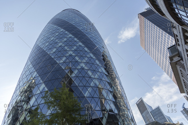 September 11,  2015: 30 St Mary Ax, The Gherkin, Financial District, City of London, United Kingdom