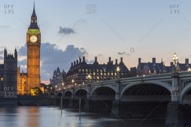 September 10,  2015: The Elizabeth Tower, clocktower with the Big Ben bell, London, United Kingdom