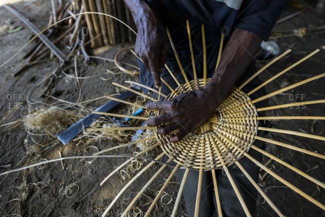 Basket maker, Democratic Republic of Congo, Africa