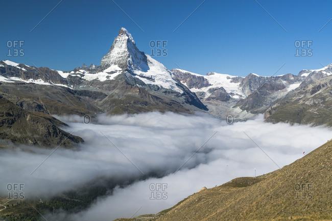 Morning fog at Matterhorn, Zermatt, Switzerland