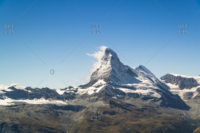 Clouds wrapping arounnd the Matterhorn, Zermatt, Switzerland