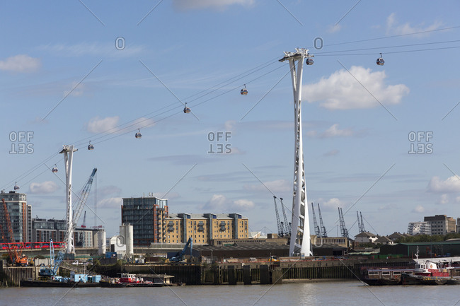 September 6,  2015: Emirates Air Line,  Gondola,  London,  United Kingdom