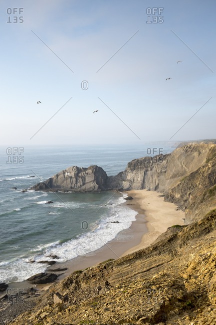 Coastal water of Aljezur, Algarve, Portugal, Europe