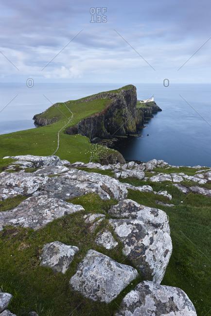 Neist Point with lighthouse, Isle of Skye, Scotland, England, United Kingdom, Europe Neist Point with lighthouse, Isle of Skye, Scotland, England, UK, Europe