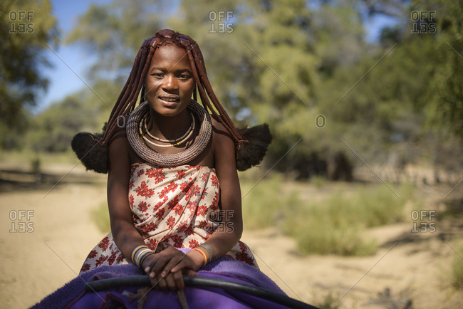 June 19,  2015: Girl of the Himba tribe, Etanga, Namibia, Africa