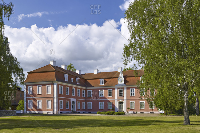 June 19,  2015: Schlossmuseum Gutshaus Schloss Wolfshagen, Prignitz, Brandenburg, Germany Castle Museum Wolfshagen, Prignitz, Brandenburg, Germany