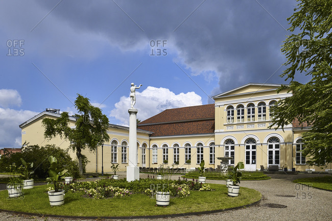 June 20,  2015: Orangery in palace gardens Neustrelitz, Mecklenburg-Western Pomerania, Germany
