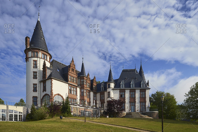 June 21,  2015: Klink Castle near Waren -Muritz, Mecklenburg Western Pomerania, Germany