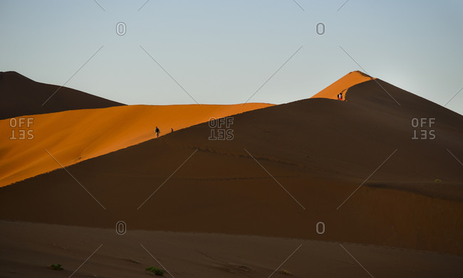 The red dunes of Sossusvlei, Namibia