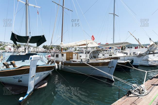 May 14,  2015: Marina of Bodrum,   La province,  Aegean Sea,  Turkey
