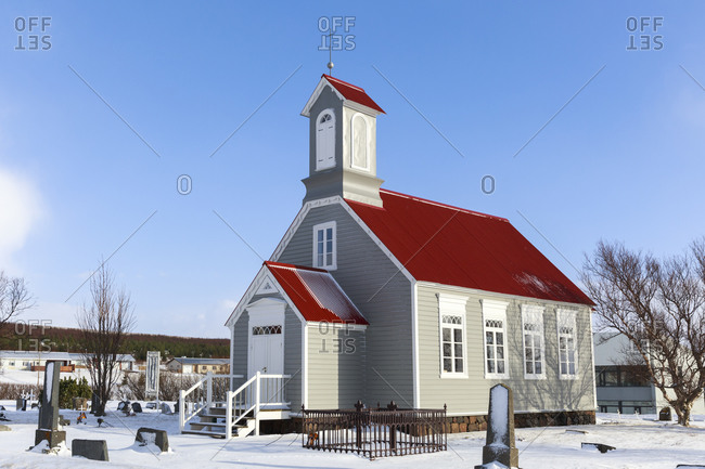 19th century church in Reykholt, Vesturland, Iceland