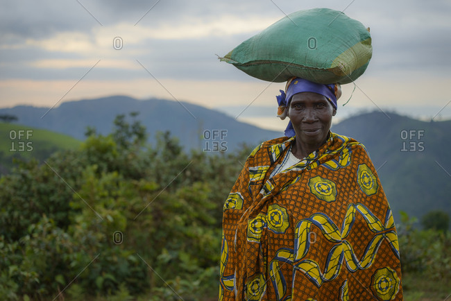 November 2,  2014: Woman with traditional clothes, Burundi, Africa