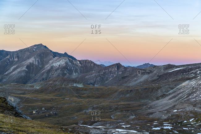 Hohe Tauern National Park at sunset, Austria