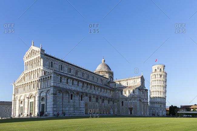 May 18,  2014: Cathedral of Santa Maria Assunta and Campanile, Leaning Tower of Pisa, Piazza del Duomo, Pisa, Tuscany, Italy