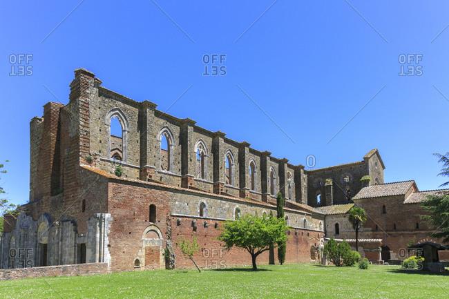 Abbazia San Galgano Abbey, Chiusdino, Province of Siena, Tuscany, Italy