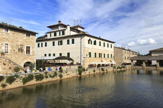 Ancient Baths of Bagno Vignoni, Tuscany, Italy Ancient Baths of Bagno Vignoni, Tuscany, Italy
