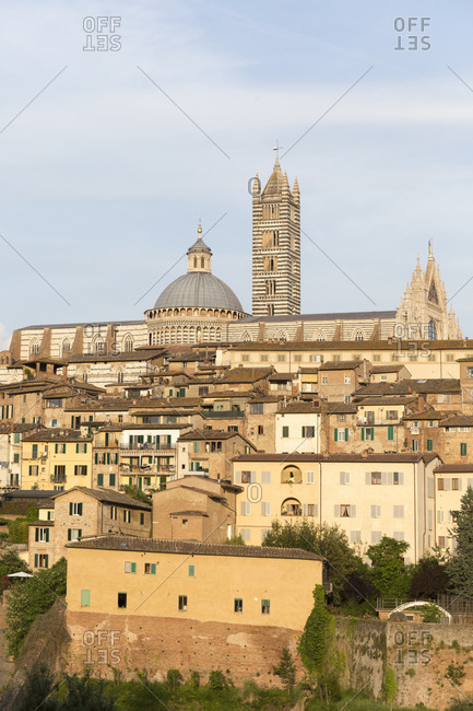 Wide view Siena, Tuscany, Italy