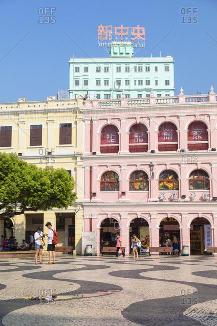China - September 30, 2019: Senado Square, Macau, China