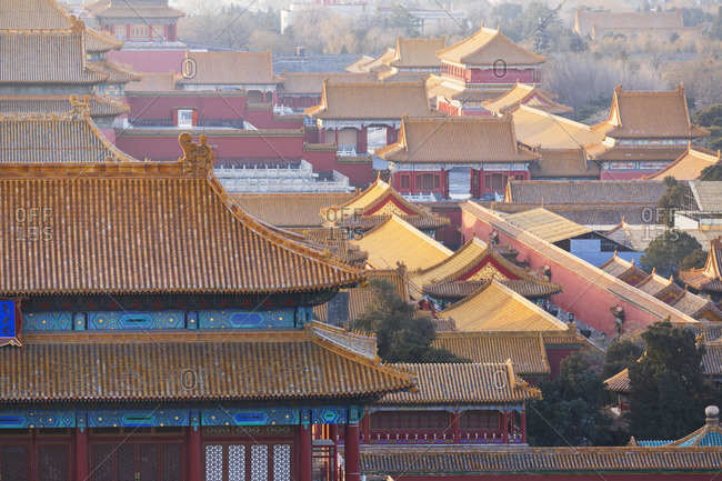 Forbidden City at sunrise, Beijing, China