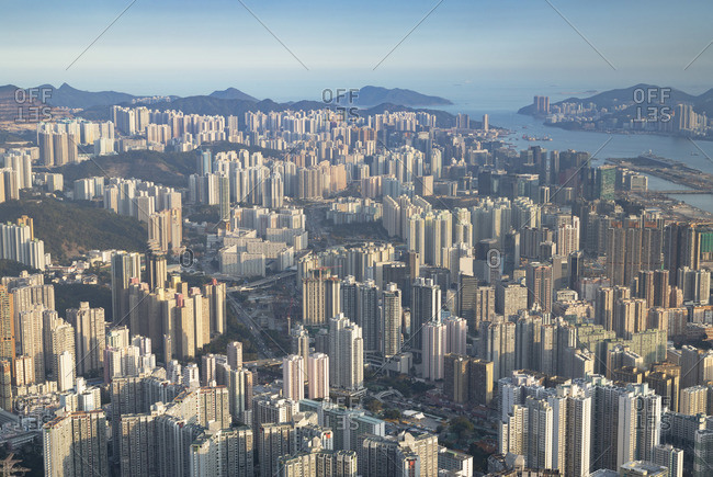 Apartment blocks, Kowloon, Hong Kong