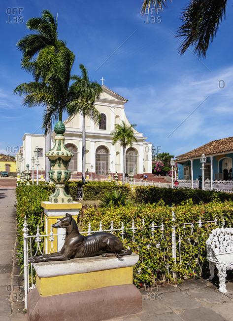 Cuba - April 8, 2019: Santisima Trinidad Cathedral, Plaza Mayor, Trinidad, Sancti Spiritus Province, Cuba