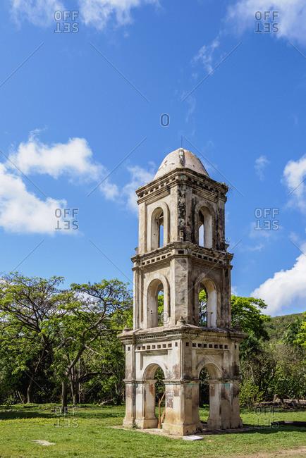 Tower at San Isidro de los Destiladeros Estate, Valle de los Ingenios, UNESCO World Heritage Site, Sancti Spiritus Province, Cuba