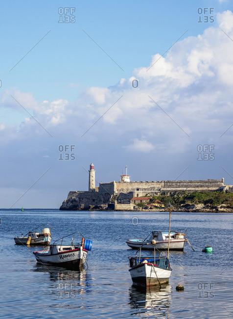 Cuba - March 25, 2019: El Morro Castle and Lighthouse, Havana, La Habana Province, Cuba