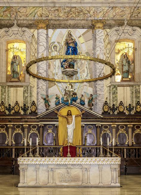 Cuba - April 29, 2019: Cathedral of San Cristobal, interior, La Habana Vieja, Havana, La Habana Province, Cuba