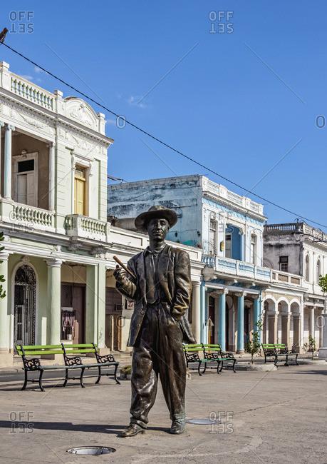 Cuba - April 7, 2019: Benny More Statue, Paseo El Prado, Cienfuegos, Cienfuegos Province, Cuba