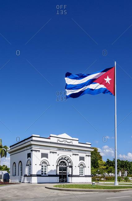 Cuba - April 16, 2019: Santa Ifigenia Cemetery, Santiago de Cuba, Santiago de Cuba Province, Cuba