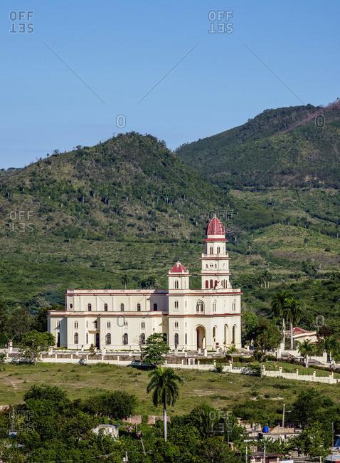 Nuestra Senora de la Caridad del Cobre Basilica, elevated view, El Cobre, Santiago de Cuba Province, Cuba