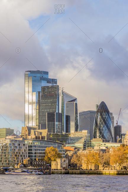 England - November 18, 2019: Skyline and River Thames, London