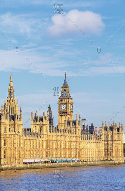 England - September 25, 2019: Big Ben and Houses of Parliament, London, England, UK