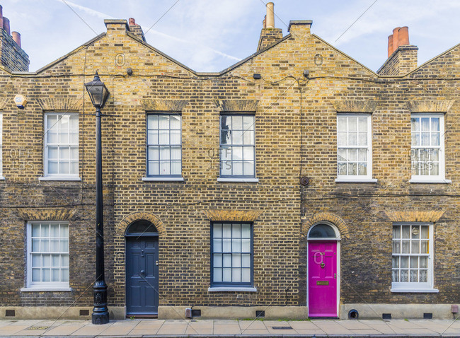 Colorful 19th Century Georgian architecture, Waterloo, London, England